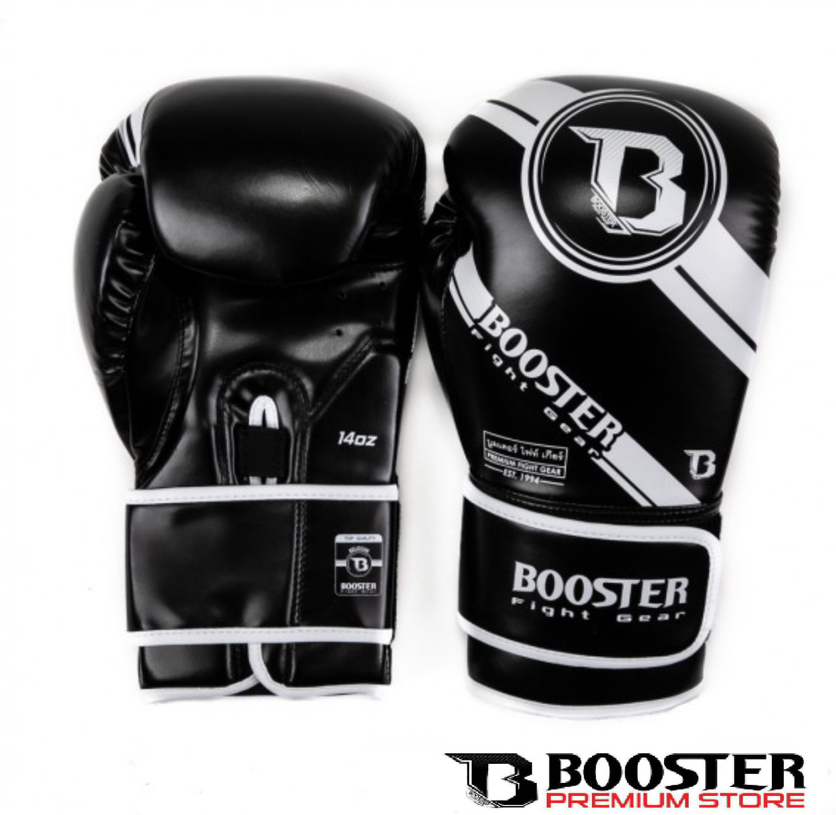 Booster Fightgear | Bokshanschoenen | PU Leather | Premium Striker Zwart